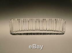 Crystal Clear Cut Glass Vase Jardiniere by Vaclav Hanus 1970s Interior Design