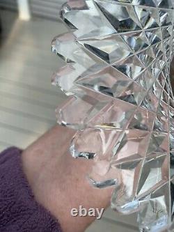 Crystal Cut Glass Chalice Vase 12