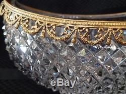 Cut Crystal French Ormolu Vase possible Baccarat