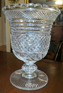 Cut Glass Celery Vase Antique American Anglo-Irish Cut Crystal 19th Century