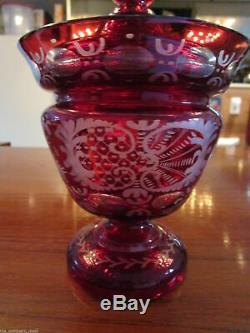 Czech Bohemian Crystal Cut Clear To Cut Glasses, Vases, Egermann, Pick One