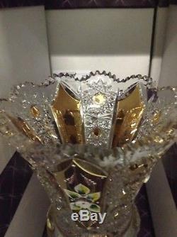 Czech bohemia crystal glass Cut crystal vase 35cm/ 14