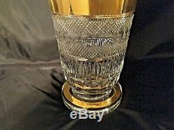 Czech bohemia crystal glass Cut crystal vase Moser decor 31cm/12