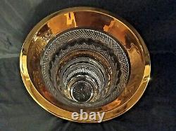 Czech bohemia crystal glass Cut crystal vase Moser decor 35cm/14