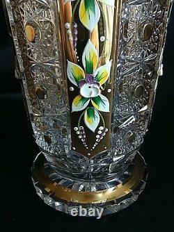 Czech bohemia crystal glass Luxury Cut crystal vase 21cm/ 8