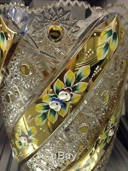 Czech bohemia crystal glass Luxury Cut crystal vase 41cm/ 16