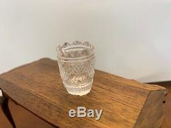 Dollhouse Miniatures Jim Irish Cut Crystal Glass Vase Artisan Handcrafted