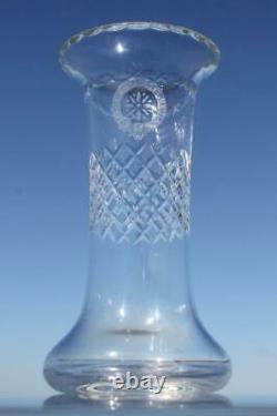 Elder Dempster 6 Original Steamship Cut Crystal Glass Fine Table Vase C-1920's