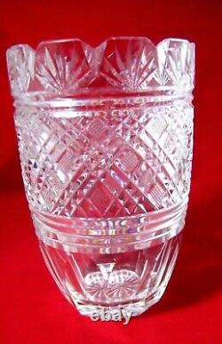 Elegant Vintage WATERFORD Cut Crystal Vase 8 Tall Very Heavy