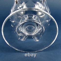 Elegante Kristall Vase Pokalvase Facetten Schliff Cut Crystal Böhmen vintage