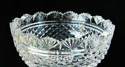 Enormous 8.5 WATERFORD Vintage Cut Crystal Vase Ireland Manufacture