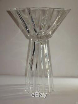 Extra Large Very Heavy Cut Glass Crystal Vase 17 Tall