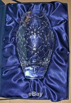 Faberge Atelier Cut Crystal Vase W Case