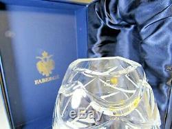 Faberge Atelier Cut Crystal Vase in Original Presentation Box Pine Cone Signed