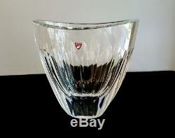 Fabulous Modern Design Orrefors Cut Oval Form Vase Large Weighs About 10 Pounds