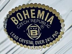 Fabulous Vintage Bohemian Chech Republic Hand Cut Crystal Flower Vase