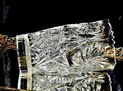 Fabulous Vintage Hand Cut Large Crystal Vase Bohemia C 1960's