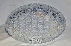 Fine American Brilliant Cut Crystal Carafe Vase Harvard Cane Hoare Hawks Libbey