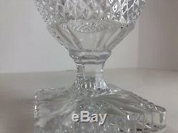 Fine Hand Cut Crystal Candy Jar, Canister, Biscuit Cookie Container. Exc. HTF