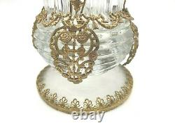 French Antique Spill Vase with Gold Dore and Cut Crystal