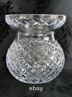 GORGEOUS LARGE WATERFORD CRYSTAL BOUQUET 9 VASEAcid Etched SignedMaster Cut