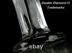 Genuine Large Antique 12 Heisey #353 Colonial Flat Panel Cut Crystal Vase
