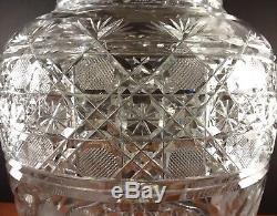 Gorgeous Antique ABP Brilliant Period Cut Crystal 12 Vase Flower & Cane Cut