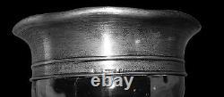 Gorham American Brilliant Cut Glass Large 12 3/4 Vase Signed Sterling