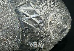 Guaranteed 19th Century Amercian Brilliant Cut Glass Crystal Vase Possibly Hawks