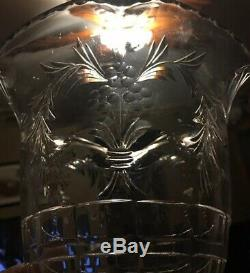 HAWKES STERLING BASE & CUT CRYSTAL GLASS OLD VASE GORGEOUS S 410 52 Pwts