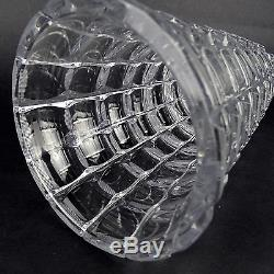 Haida / Steinschönau Kristall Vase Cut Crystal Glass Böhmen / Bohemia ca 1920