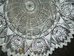Hand Cut Lead Crystal Queen's Lace Design 10 Vase Rossi Heavy