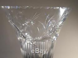 Hawkes Sterling and Cut Glass Crystal Vase 14.75 Inches Tall Beautiful and Rare