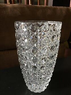 Heavy Beautifully Cut Crystal Vase