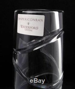 Jasper Conran Waterford Crystal Aura Pattern Cut Crystal 12 Vase Signed