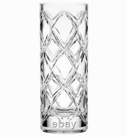 Kate Spade Lenox Calhoun Court 10 Cylinder Vase Crisscross Cut Crystal New