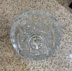 LQQK! (RARE) Beautiful Waterford Merano Pattern Diamond Cut Cylinder 8 Vase