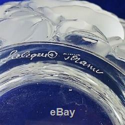 Lalique Bagatelle Vase France Cut to Clear Crystal Birds Floral