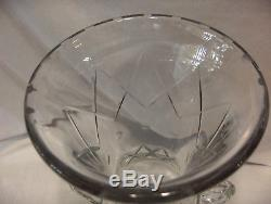 Large Cut Glass Hand Blown Crystal Vase, Grecian Urn