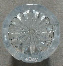 Large Old Rare Vintage European Large Hand-Cut Heavy Crystal Vase Excellent