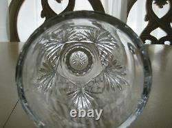 Large Rogaska Cut Glass Crystal Vase