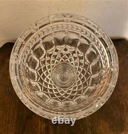 Large Vintage Heavy Cut Crystal Pedestal Urn Jar Vase with Lid 16
