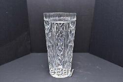 Large Waterford 10-Inch Irish Cut Crystal Vase Criss Cross Vintage retired
