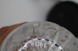 Large Waterford Irish Crystal CLARE Cut Glass Criss Cross Zipper Cut Flower Vase