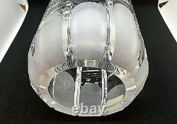 Lausitzer (Germany) 24% Lead Crystal, Hand Cut 10 Vase with Optic Design, Unique