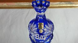 Lead Caesar Crystal Bohemian Hand Cut Cobalt Blue Vase