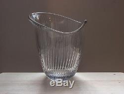 Line Cut Crystal Glass Sculpture, Vase 3512, Tapio Wirkkala, 1950 Art Iittala