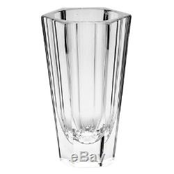 Moser Purity Hand Cut Crystal Vase Signed 8 3/4 H $700 Retail
