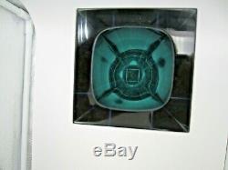 Murano block facet cut Murano green yellow blue pink Mandruzzato art glass vase