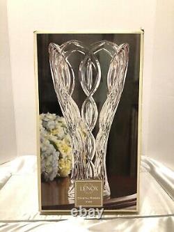 NEW Lenox Cut Crystal 14/35.5cm Tall Ribbon VaseMade in Czech Republic